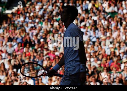 Silueta de Andy Murray (GBR) en Wimbledon
