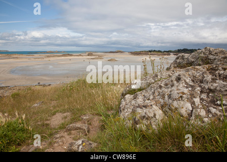 Playa de Pointe du Chevet, Saint Jacut de la Mer, Bretaña, Francia