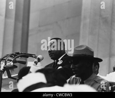 """Marzo de 1963 en Washington. Martin Luther King entregando su """"discurso Yo tengo un sueño."""" El día 28 de agosto, 1963."""