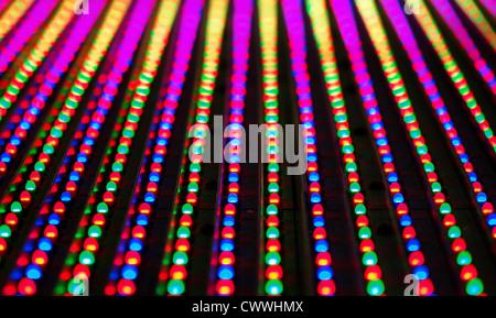 La textura del panel de pantalla RGB LED.