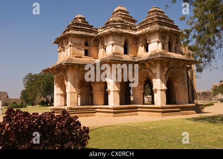 Elk201-2693, Karnataka, India Hampi, Zenana alojamiento, Lotus Mahal
