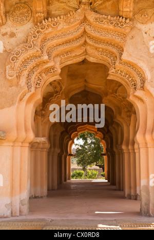 Elk201-2701v, Karnataka, India Hampi, Zenana alojamiento, Lotus Mahal