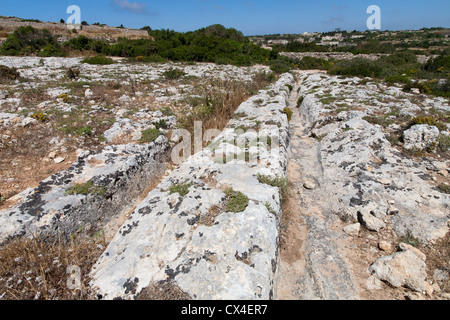 El misterioso carrito roderas en Clapham Junction, Isla de Malta, el Mar Mediterráneo
