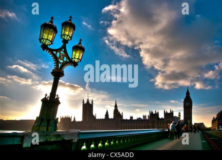 Las casas del parlamento, Westminster, Londres, Inglaterra, Reino Unido.