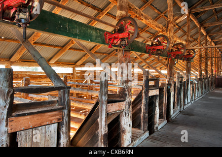 Antigua e histórica caseta de lana en el Parque Nacional Mungo.