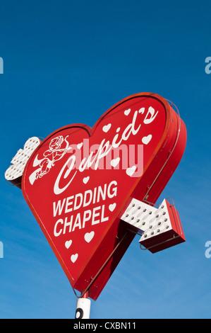 La capilla Cupid's Wedding Chapel, Las Vegas, Nevada, Estados Unidos de América, América del Norte Foto de stock