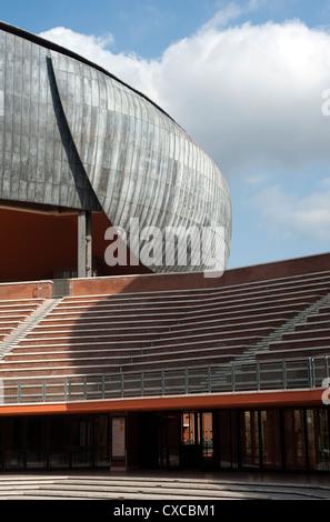 El Auditorio Parco della Musica, diseñado por el arquitecto Renzo Piano. Roma, Italia, Europa
