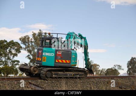 Mantenimiento ferroviario maquinaria Foto de stock