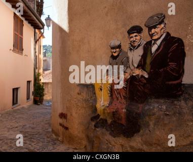 Mural en Santu Lussurgiu village Cerdeña Italia