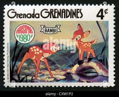 Sello de granada - personajes de dibujos animados de Disney - Bambi