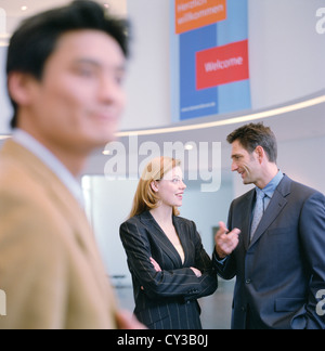 Gente de negocios hombre mujer cooperación Manager, licencia gratuita, salvo los anuncios y vallas al aire libre