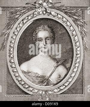 Jeanne Antoinette Poisson, Marquesa de Pompadour aka Madame de Pompadour, 1721 - 1764.