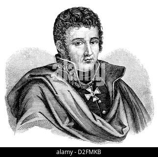 Gerhard Johann David von Scharnhorst, 1755 - 1813, un general militar prusiano y reformador de la época de las guerras napoleónicas,