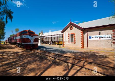 El Ghan en el Ghan Heritage Museum, Alice Springs, el Territorio del Norte, Australia, el Pacífico Foto de stock
