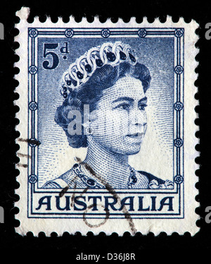 La reina Isabel II, sello, Australia, 1958