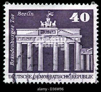 Puerta de Brandeburgo, Berlín, Alemania, sello, 1973