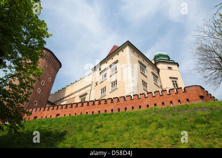 El Castillo de Wawel, en Cracovia, Polonia.