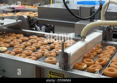 Krispy Kreme donuts producción en Seúl, Corea del Sur