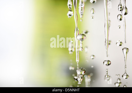 Imagen macro de gotas de agua