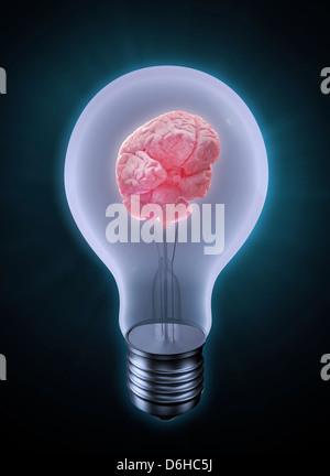 La creatividad, la obra conceptual Foto de stock
