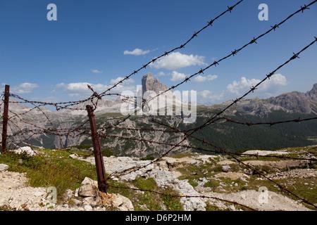 Monte Piana al aire libre Museo de la Primera Guerra Mundial, Tre cime di Lavaredo, Belluno, Bozen, Dolomitas, Italia, Europa