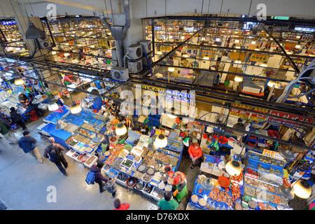 Noryangjin Mercado Mayorista Pesquero en Seúl, Corea del Sur