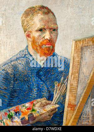 El autorretrato de 1888 de Vincent van Gogh 1853 - 1890 Holanda Holandesa Post Impresionismo Foto de stock