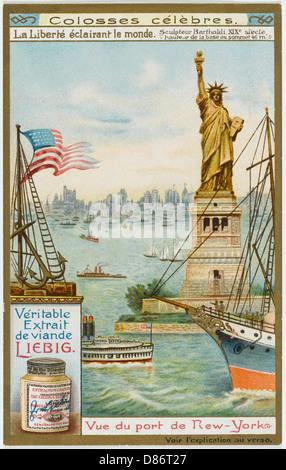 Nueva York, la Estatua de la Libertad Foto de stock