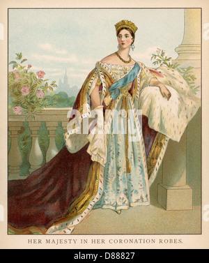 Victoria en coronación Foto de stock