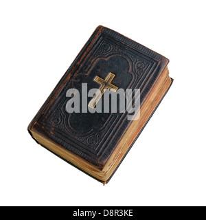 La Santa Biblia aislado sobre fondo blanco.