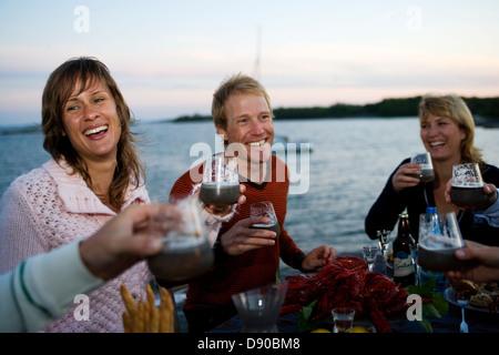 Parte de langostinos, Fejan, archipiélago de Estocolmo.