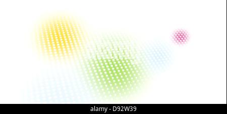 Patrón de puntos más manchas descoloridas de color