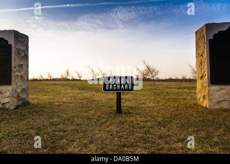 El huerto de durazno en el Parque Militar Nacional de Gettysburg