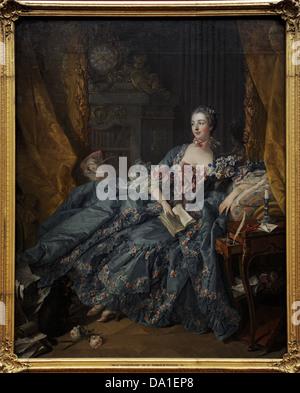 Francois Boucher (1703-1770). El pintor francés. Madame Pompadour, 1758. Alte Pinakothek. Munich. Alemania.
