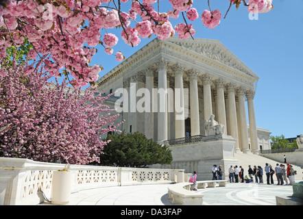 Washington D.C., EE.UU. Corte Suprema de los Estados Unidos Edificio Primavera