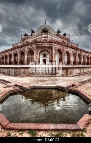 La Tumba de Humayun. Nueva Delhi, India. Imagen HDR.