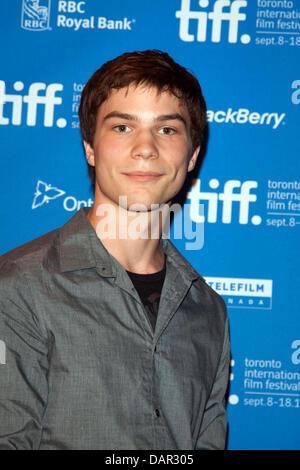 El actor Nick Krause asiste a la conferencia de prensa de 'Los Descendats' en el Festival Internacional de Cine de Toronto, TIFF en Bell Lightbox en Toronto, Canadá, el 10 de septiembre de 2011. Foto: Hubert Boesl