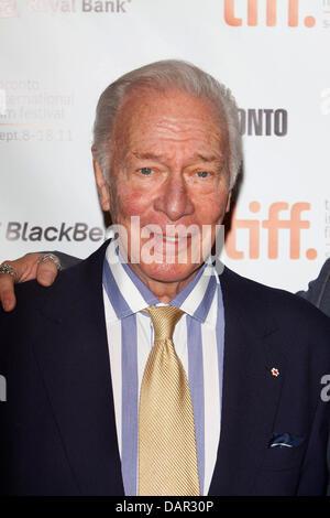 El actor canadiense Christopher Plummer asiste al estreno de 'Barrymore' en el Festival Internacional de Cine de Toronto, TIFF en Bell Lightbox en Toronto, Canadá, el 10 de septiembre de 2011. Foto: Hubert Boesl