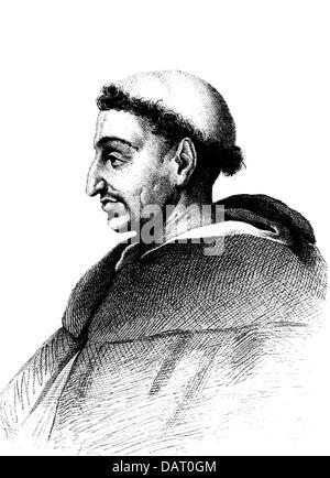 Girolamo Savonarola, 21.9.1452 - 23.5.1498, clérigo Italiano, retrato, sobre la base de grabado en cobre, alrededor del siglo XIX, el Copyright del artista no ha de ser borrado