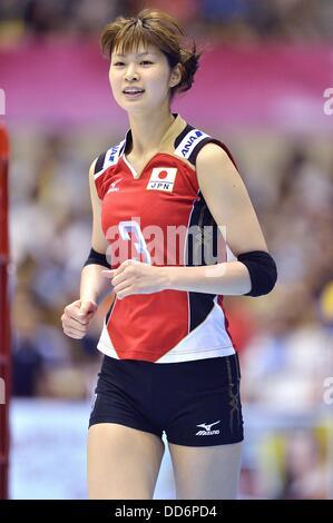 Saori Kimura (JPN), 18 de agosto de 2013 - Voleibol : 2013 FIVB World Grand Prix, Ronda Preliminar la semana 3 Piscina M coinciden con Japón 3-2 República Checa en el gimnasio de Sendai en Sendai, Miyagi, Japón. (Foto por Ryu Makino/AFLO)