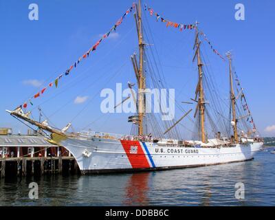 La guardia costera estadounidense Tall Ship eagle Foto de stock