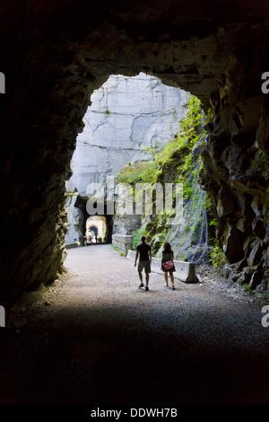 Othello túneles, Coquihalla Canyon Parque Provincial, Esperanza, British Columbia, Canadá. Foto de stock