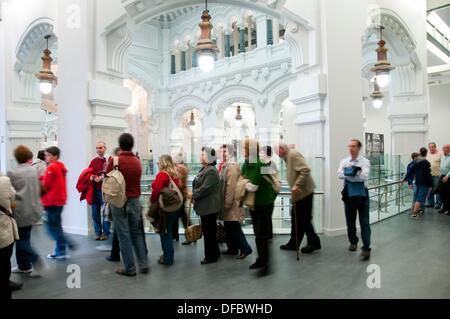 Palacio De Cibeles Vista Interior Madrid España Foto