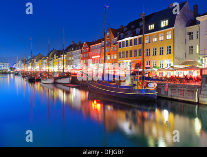 Canal de Nyhavn en Copenhague, Dinamarca.