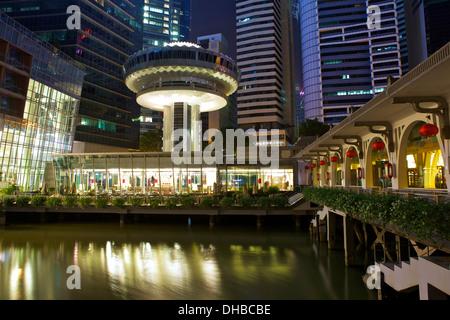 Paisaje urbano en el Fullerton Bay Hotel Singapore.
