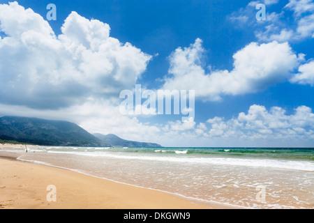 Playa de Portixeddu, Bahía de Buggerru, Provincia Iglesiente, Cerdeña, Italia, Mediterráneo, Europa
