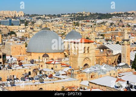 La iglesia del Santo Sepulcro, Jerusalem, Israel de techo