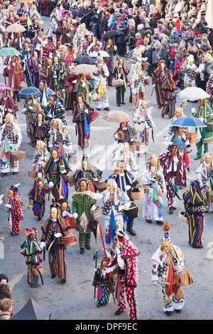 Narrensprung, tradicional carnaval, Rottweiler Fasnet, Rottweil, Selva Negra, Baden Wurttemberg, Alemania, Europa
