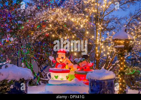 Mickey Mouse, Minnie y Goofy, Navidad, visualización