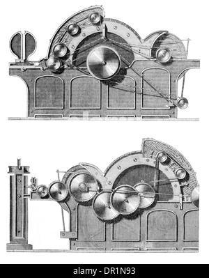 Leich patente Auto Motor pelado circa 1889